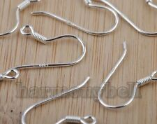Wholesale 10pcs(5 pair) 925 Sterling Silver EARRING HOOK COIL EAR WIRE 0.65mm