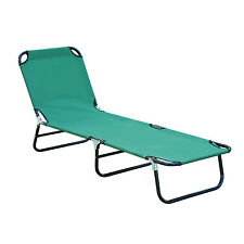 Outdoor Sun Chaise Lounge Recliner Patio Camping Cot Bed Beach Pool Chair F