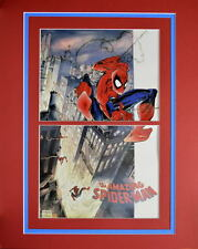 TRAILING A SWINGING AMAZING SPIDER-MAN PRINT PROFESSIONAL MATTED Todd McFarlane