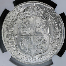 1915 UK Great Britain Sterling Silver Halfcrown KM# 818 S.4011 NGC MS62  +Luster