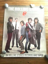 "ROLLING STONES poster -24x30""-PROMO- 80s POSTER"