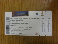 14/03/2013 Ticket: Newcastle United v Anzhi Makhachkala [Europa League] (Grubby