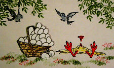 Fainted Chicken  (U get  photo # 2) L@@K@examples  Art Impressions Rubber Stamps