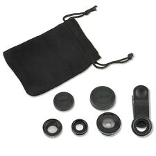 3in1 Fish Eye + Wide Angle Micro Lens Camera Kit Set for iPhone 5G 4S 4 i9300  F