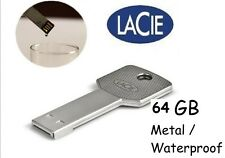 USB Flash Drive Disc 64 GB Waterproof  / Metal  LaCie PetiteKey Key Design