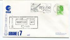 1983 Ariane L7 ESA Lancement Europe Kourou Guyane SPACE NASA SAT USA