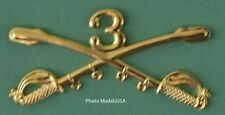 3rd Cavalry Crossed Sabers Large Hat Pin