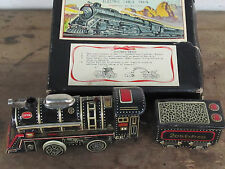 Vintage 50's Japan TN Tin Litho Battery Operated Electric Cable Train with BOX