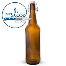 Mangrove Jack's 12 x 750ml Flip Top Amber bottles - Home Brew