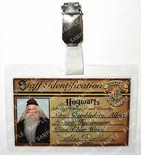 Professor Albus Dumbledore ID Badge Potter Hogwarts Cosplay Costume Halloween