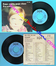 LP 45 7'' MARIO BATTAINI RUDY RICKSON Acqua azzurra chiara Daradan no cd mc dvd