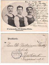 Wien, Colosseum Kraftsport Trio im Zirkus,sporty male,boy friends 1906