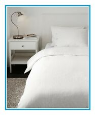 "IKEA Linblomma""WHITE""Duvet Cover & Queen Sham/Pillowcase NEW Ivory Cream Linen"