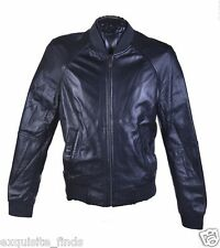 BRAND NEW VERSACE COLLECTION BLACK LEATHER BOMBER JACKET 48 - 38