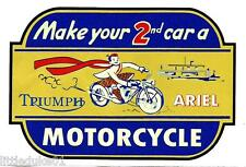 TRIUMPH & ARIEL MOTORCYCLE VINYL STICKER / DECAL WORKSHOP GARAGE GAS STATION