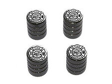 Iron Cross Fire Department - Tire Rim Wheel Valve Stem Caps - Black