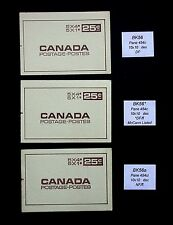 BK56 x 3 Different versions  Canada Centennial Booklet Stamps BK56  BK56*  BK56a