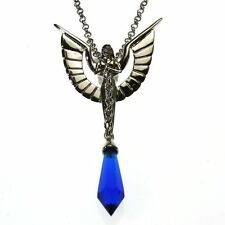 Angelic Chain Blue Crystal Keeper Angel Pendant Necklace Anne Stokes CK01