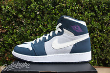 NIKE AIR JORDAN 1 RETRO HIGH GS SZ 5 Y SAIL HYPER VIOLET BLUE WHITE 332148 117