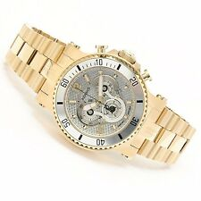 Renato Mens T-Rex Diver Hand Made Silver Tone Carbon Filber Dial Gold Tone Watch