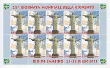 Foglietto 10 valori - 28^ Giornata mondiale della gioventù RIO - 2013 - Vaticano