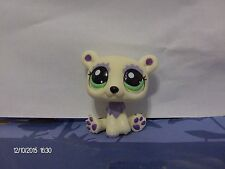 Littlest Pet Shop White and Purple Polar Bear with Green Eyes #1822