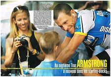 Coupure de presse Clipping 2005 (4 pages) Lance Armstrong