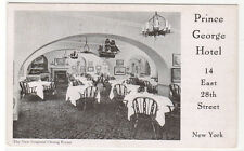 Prince George Hotel Dining Room 28th Street New York City 1939 postcard