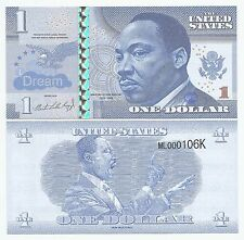 The United States - 1 Dollar - Fantasy Note - Martin Luther King Jr. (2016) UNC