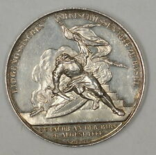 1844 Basel Switzerland 38mm Proof Silver Swiss Shooting Medal  R-87b m-53
