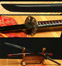 41' 1060 CARBON STEEL & BLACK FULL TANG BLADE JAPANESE SAMURAI  KATANA FULL TANG