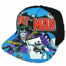 Batman Joker Super Hero Villain Flat Bill Sublimated Cartoon Hat Cap Snapback