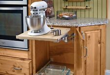 "Kraftmaid Pull Out Mixer Shelf Fits Any Brand 24"" Wide OD Kitchen Base Cabinet"