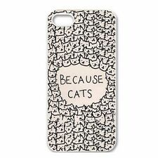 Hot Fashion Design Because cats Hard Back Case Cover Protector For iPhone 5 5S