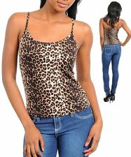 P27 -XSmall- Browm Animal/Leopard Print Stretchy Cami Top