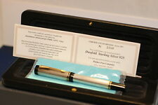 Parker Duofold International  sterling silver fountain pen 1991 - NEW