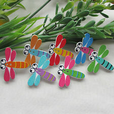 60PCS Cute Dragonfly Carton Baby Sewing Button Scrapbooking Buttons Lots 24MM