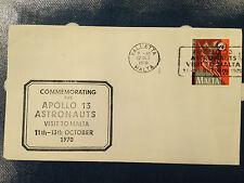 Malta Apollo 13 Astronaut visit FDC 11th - 13th October 1970 Valletta postmark