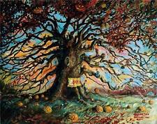 A Best Seller! HALLOWEEN TREE BRADBURY CIRCUS! Signed print by JOHN RANDALL YORK