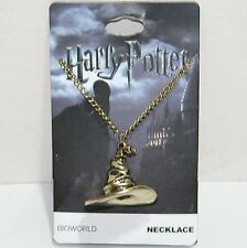 Harry Potter & Deathly Hallows Magic Golden Sorting Hat Pendant Charm Necklace