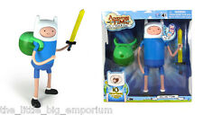 ADVENTURE TIME 10 Inch Super Posable Finn with Changing Faces Of Four Emotions