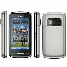 Nokia C6-01 3G Unlocked Silver GPS 3G 8MP Camera Smartphone Excellent Condition