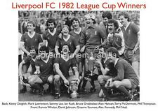 LIVERPOOL FC 1982 LEAGUE CUP FINAL KENNY DALGLISH RONNIE WHELAN IAN RUSH PRINT