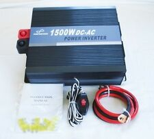 1500W 12V Pure Sine Wave Power Inverter with Remote Control & USB Connection