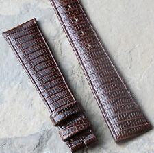 Lightly padded vintage Longines 19mm band Real Lizard 1960s/70s for 14mm buckle