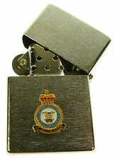 RAF ROYAL AIR FORCE SUPPORT COMMAND WINDPROOF CHROME PLATED LIGHTER