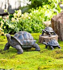 Tortoise Turtle Family Set of 3 Garden Porch Outdoor Lawn Yard Statue Ornament