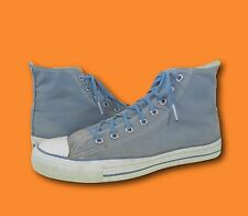 Vintage CONVERSE Light Blue Canvas High Top Athletic Sneakers 10.5  Made in USA