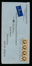 GB to SOUTH AFRICA STANDARD TELEPHONE PERFINS 1947 AIRMAIL 4s FRANKED COMMERCIAL