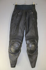 FURYGAN LEATHER BIKER TROUSERS + CE KNEE PROTECTORS WAIST 28 IN/INSIDE LEG 28 IN